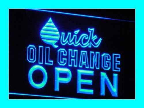 OPEN Quick Oil Change Car Repair LED Sign Neon Light Sign Display I018 B(c)