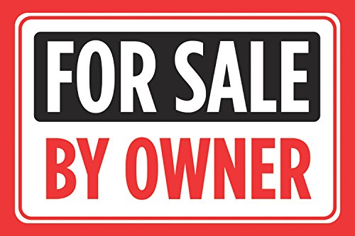 For Sale Sold Sign: For Sale By Owner Print Black Red Signs Sell Window Poster