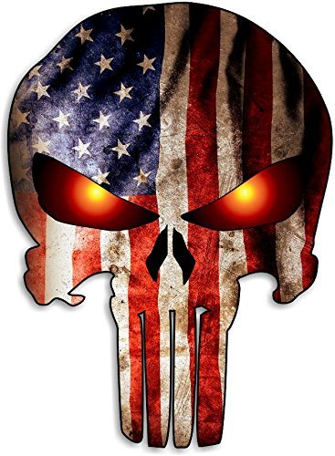 Punisher Skull American Flag Car Motorcycle Bicycle